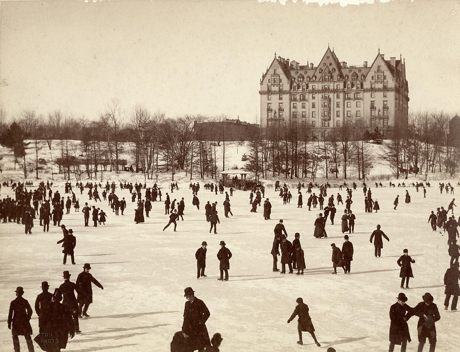 Skating In Central Park Photograph by The New York Historical Society