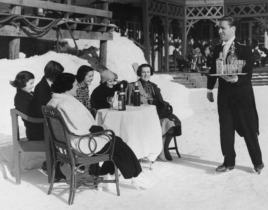 Skating Waiter Photograph by Horace Abrahams