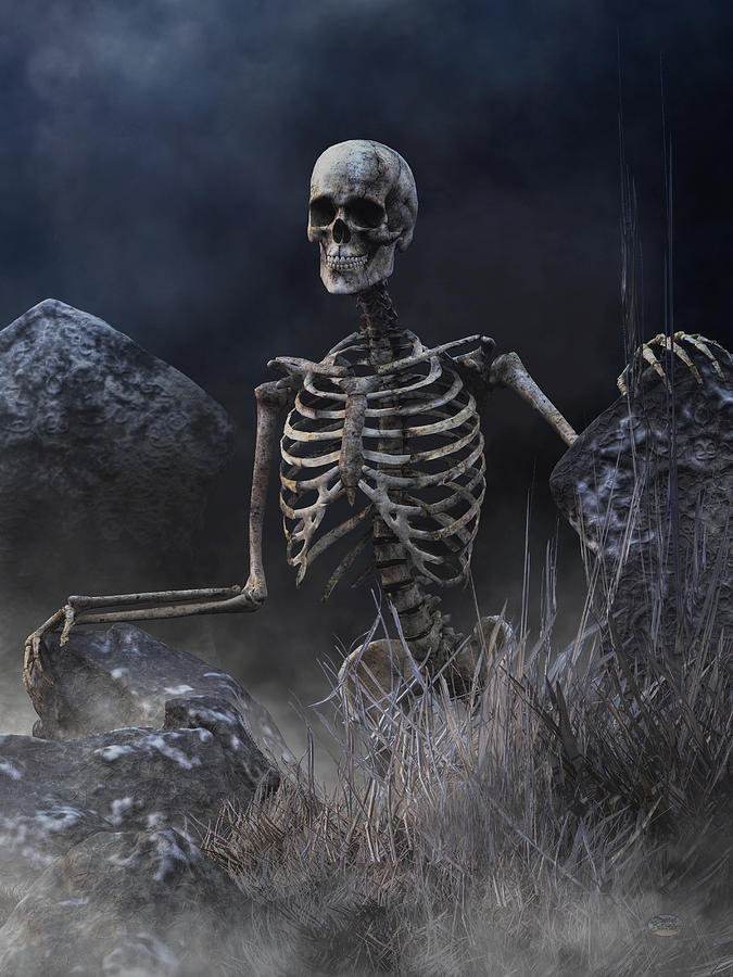 Живая картинка скелет