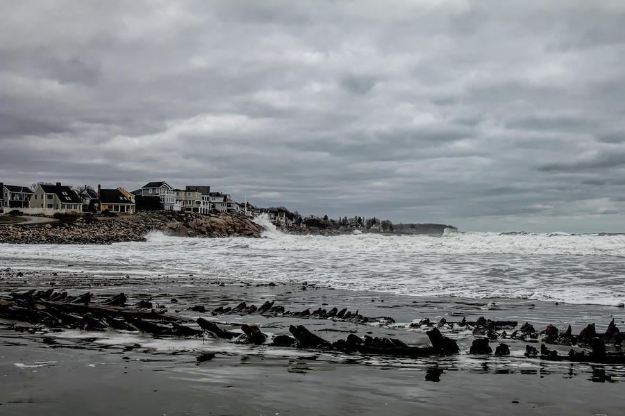 Skeleton shipwreck on Short Sands Beach by Jeff Folger