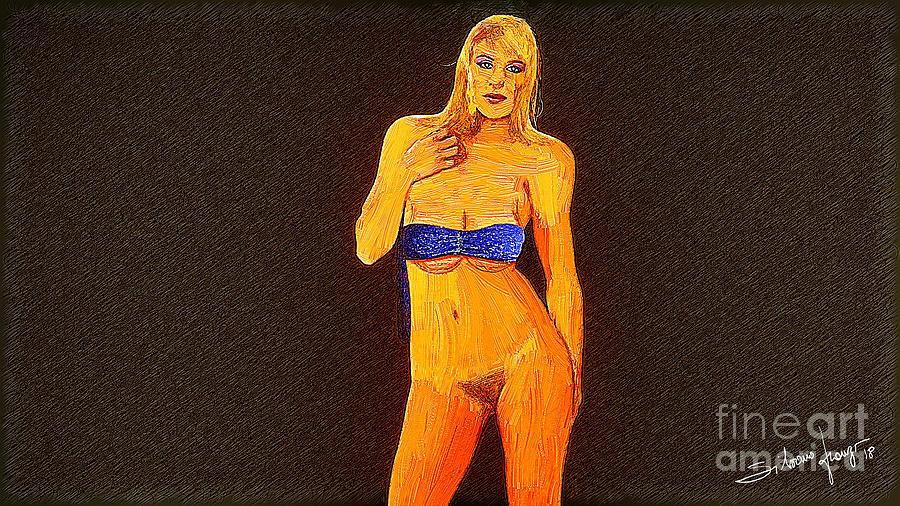 Sketch and oil by Silvano Franzi