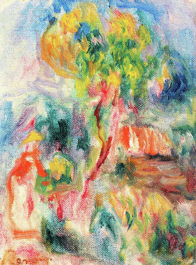 Abstract Painting - Sketch Of Landscape - Digital Remastered Edition by Pierre-Auguste Renoir