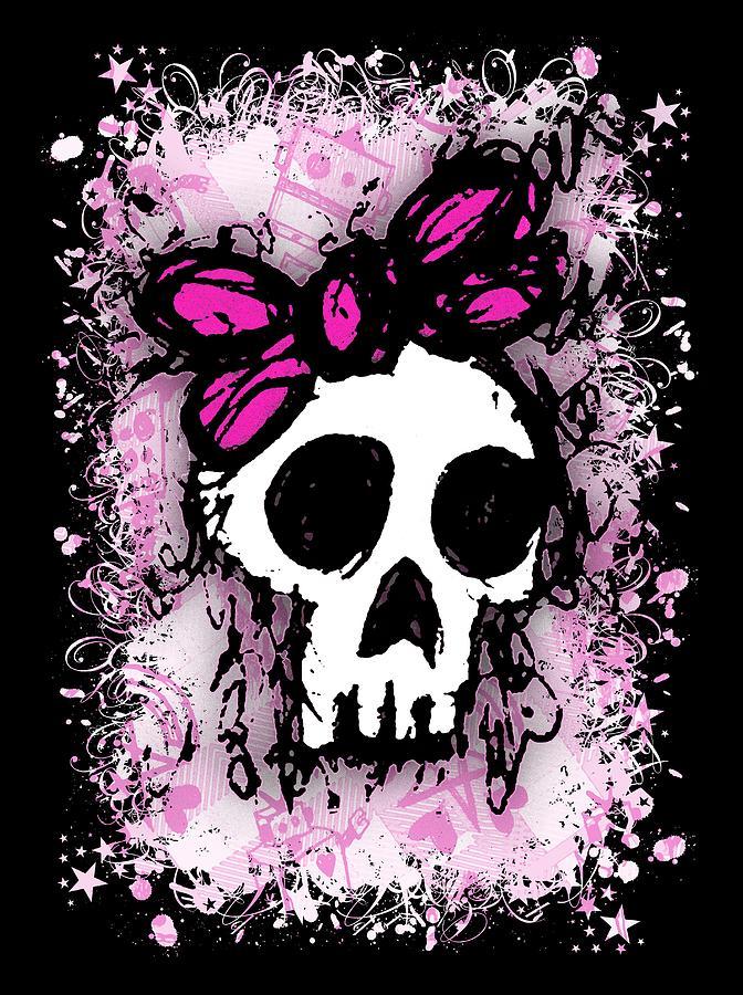 Sketched Skull Princess Graphic by Roseanne Jones