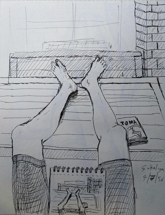 Sketching two legs by Sukalya Chearanantana