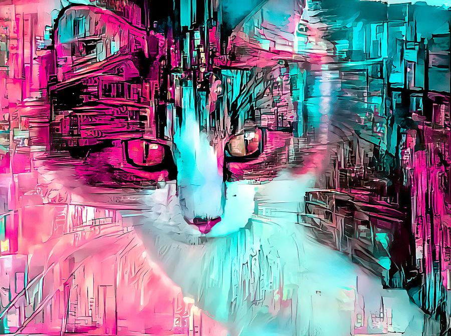 Sketchy Kitty Pink by Don Northup