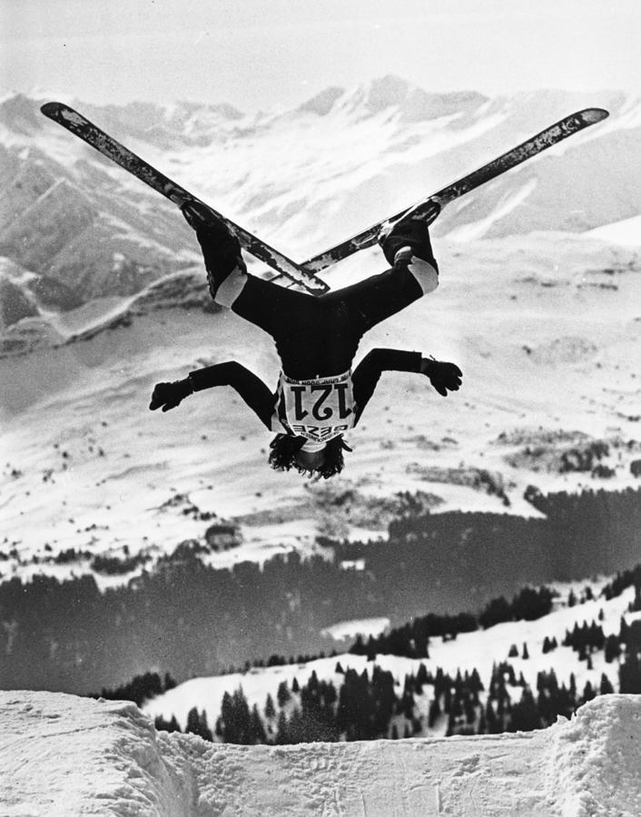 Ski Aerobatics Photograph by Keystone