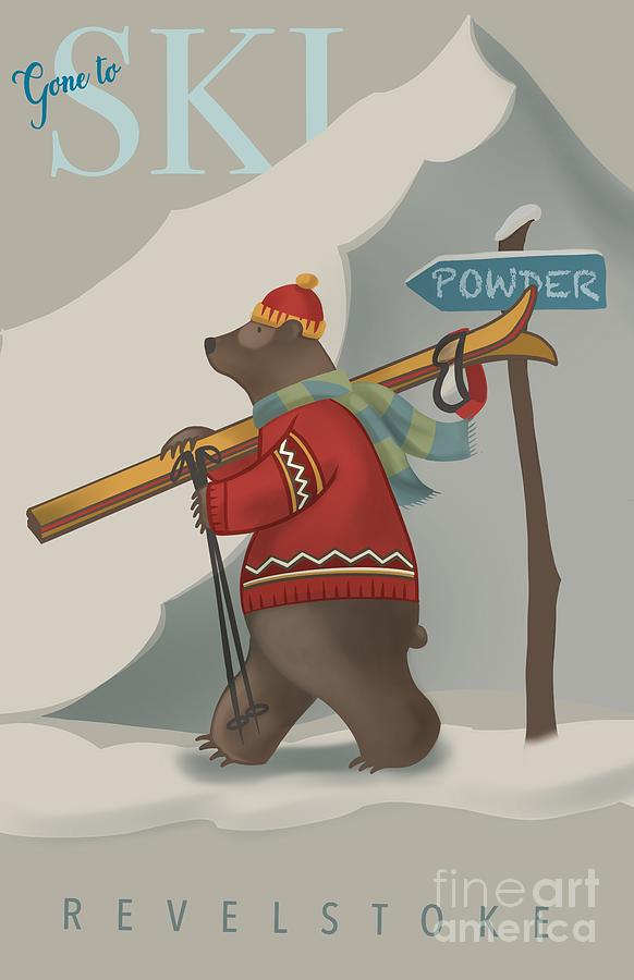 Ski Bear by Sassan Filsoof