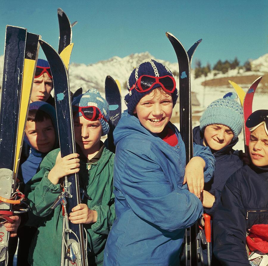 Ski Class In Auron Photograph by Keystone-france