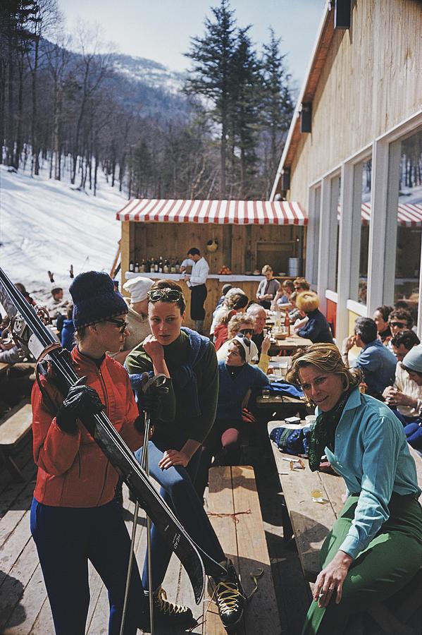 Ski Fashion At Sugarbush Photograph by Slim Aarons