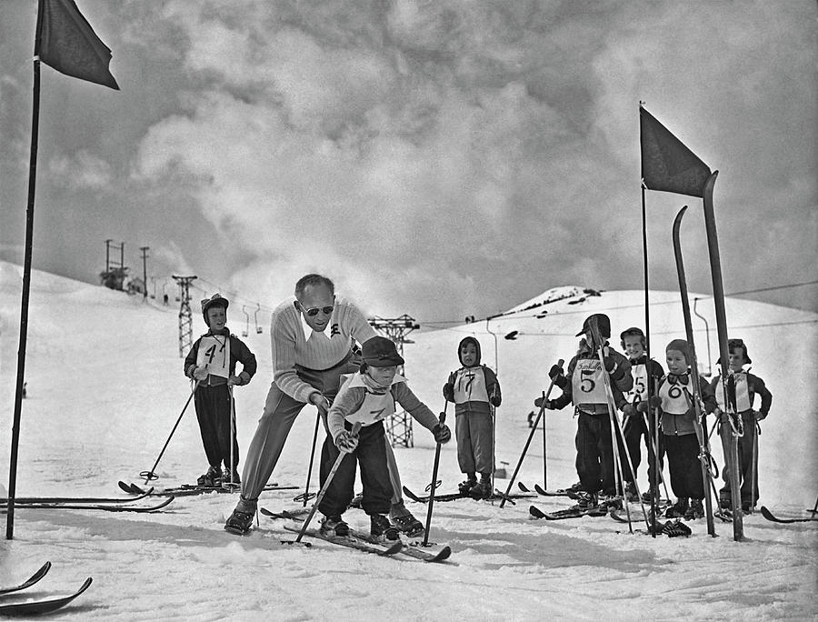 Ski Lesson Photograph by Archive Photos