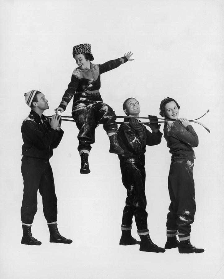 Ski Lift Photograph by Hulton Archive