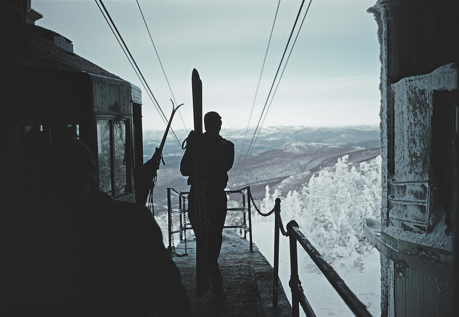Ski Lift Photograph by Slim Aarons