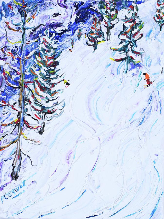 Zermatt Painting - Ski Poster Matterhorn by Pete Caswell