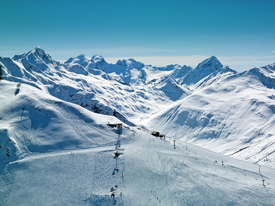 Ski Resort In Mountains Photograph by Creativaimage