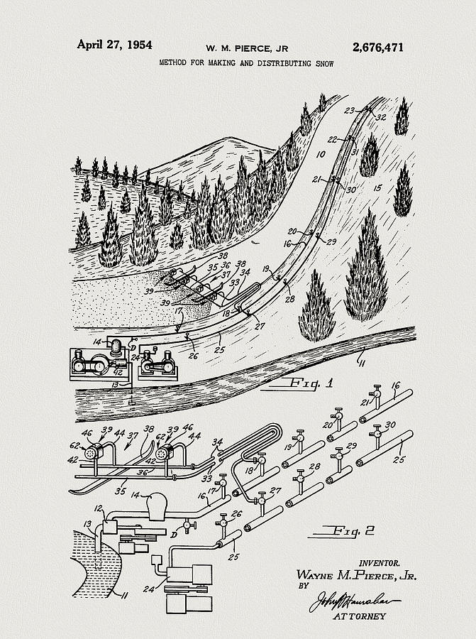 Ski Resort Snow Machine Patent by Dan Sproul