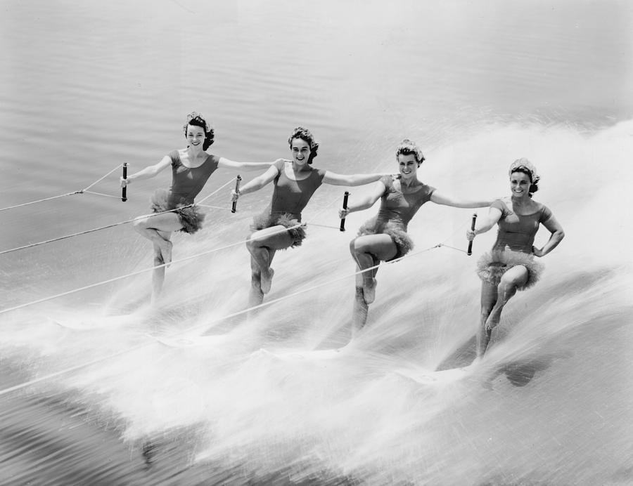 Ski Stunt Photograph by Hulton Archive