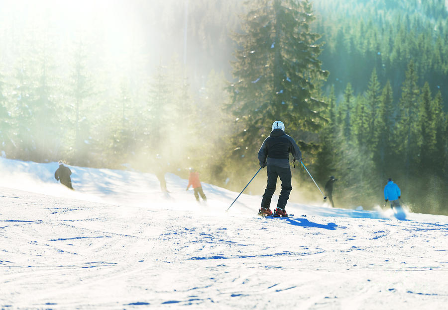 Winter Sports Photograph - Skier by Galyna Andrushko