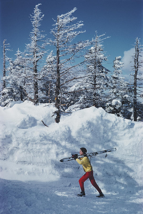 Skier In Vermont Photograph by Slim Aarons