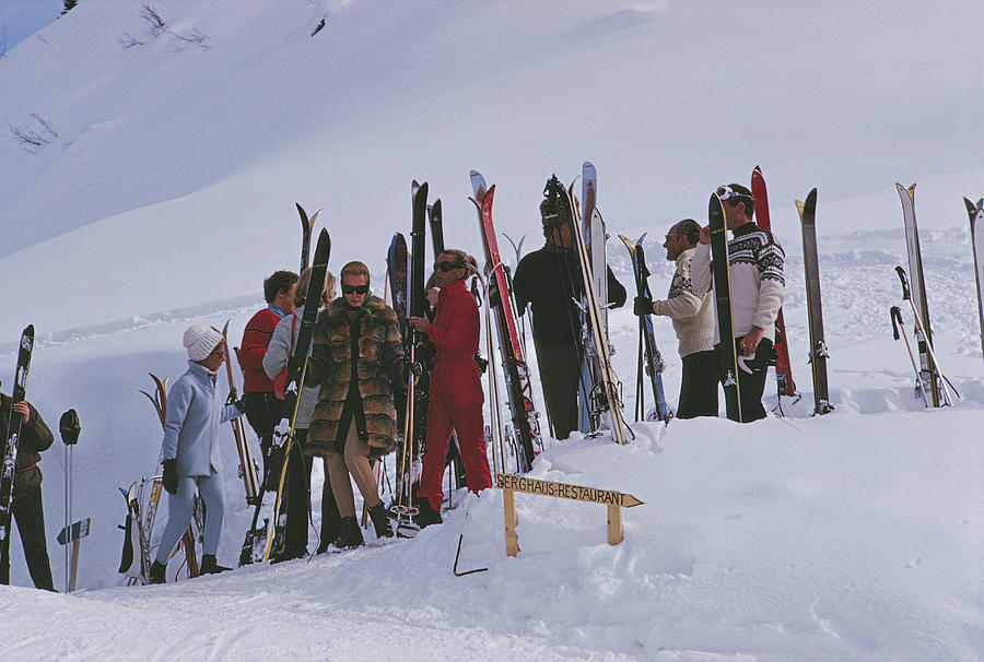 Skiers At Gstaad Photograph by Slim Aarons