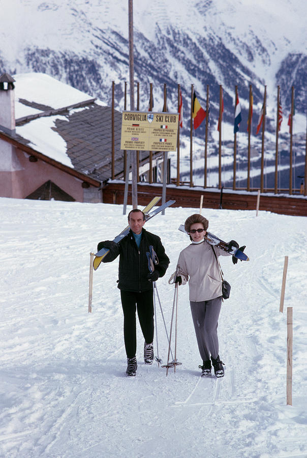 Skiers At St. Moritz Photograph by Slim Aarons