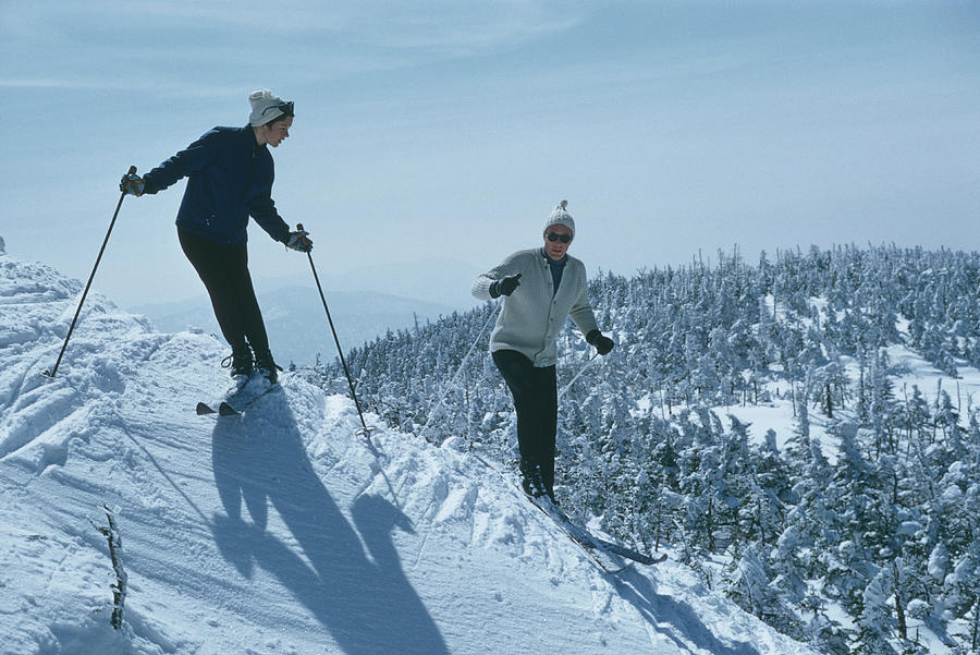 Skiers At Sugarbush Photograph by Slim Aarons