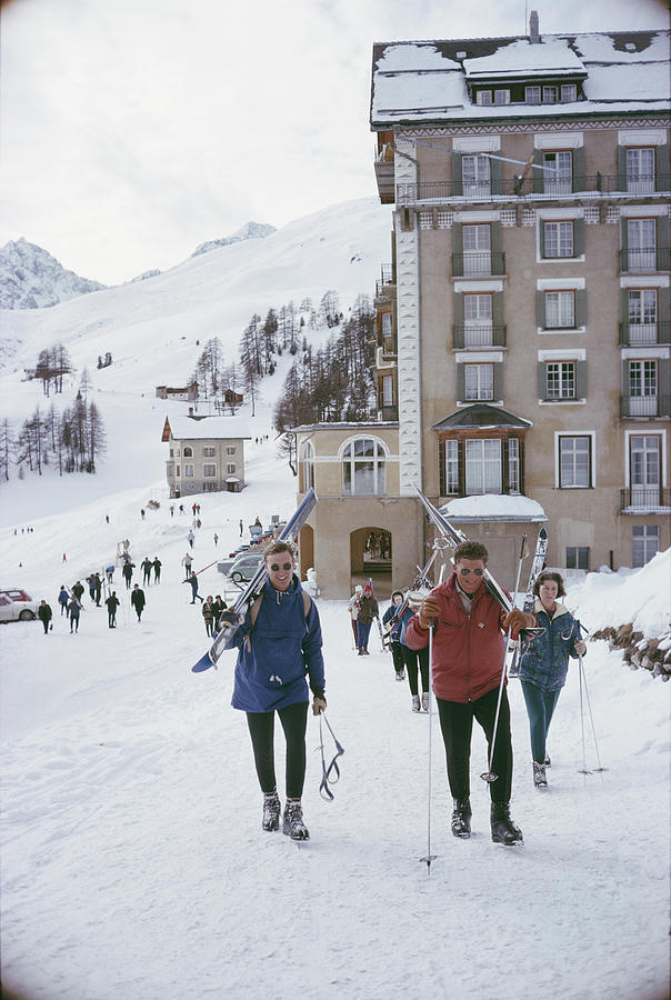 Skiers In St. Moritz Photograph by Slim Aarons