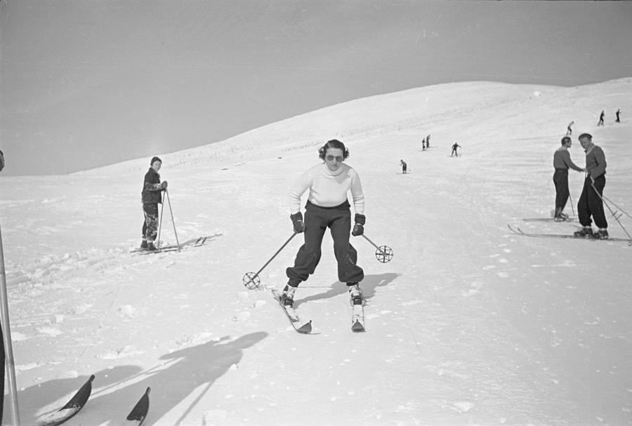 Skiing At Sun Valley Photograph by Alfred Eisenstaedt