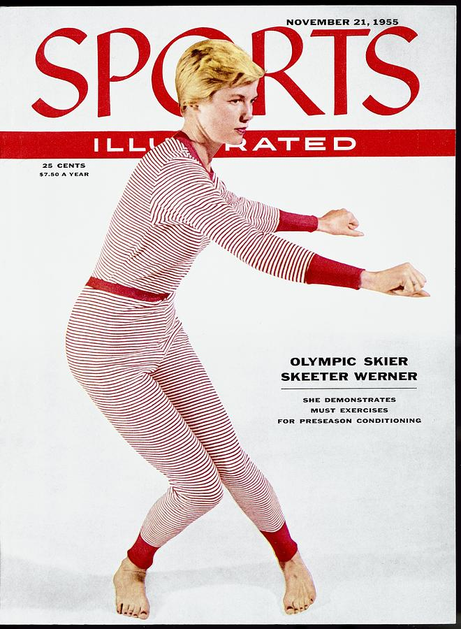 Skiing Exercises By Skeeter Werner Sports Illustrated Cover Photograph by Sports Illustrated