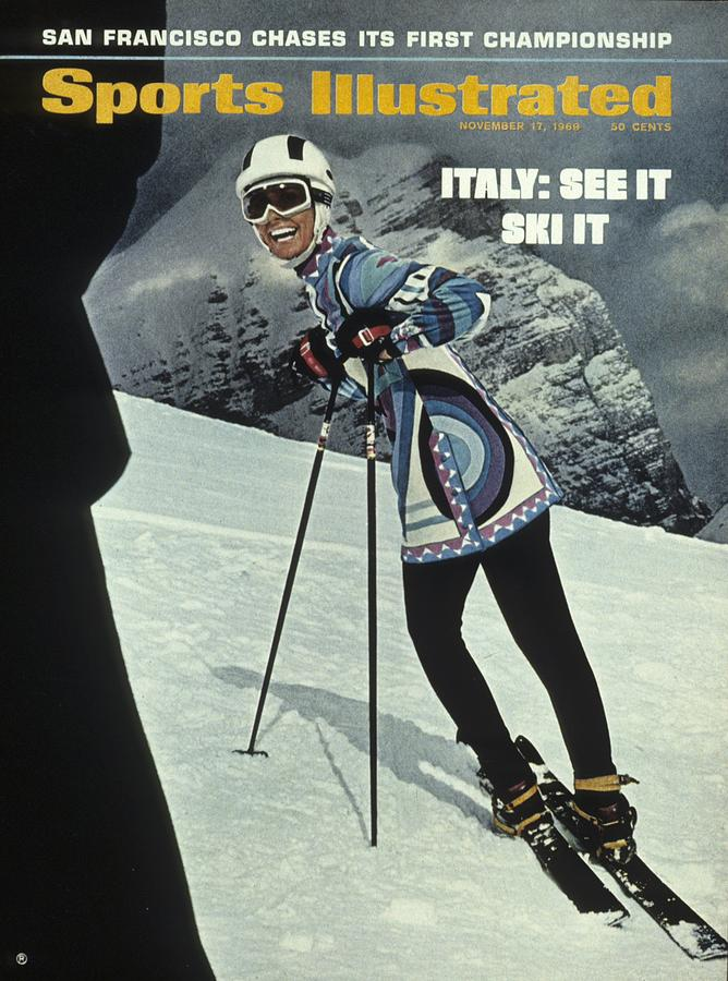 Skiing In Italy Sports Illustrated Cover Photograph by Sports Illustrated