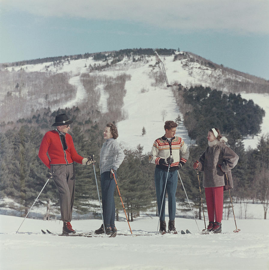Skiing In New Hampshire Photograph by Slim Aarons