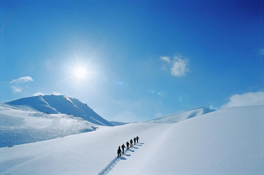Skiing In Norway Photograph by Lars Thulin