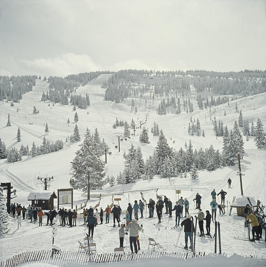 Skiing In Vail Photograph by Slim Aarons