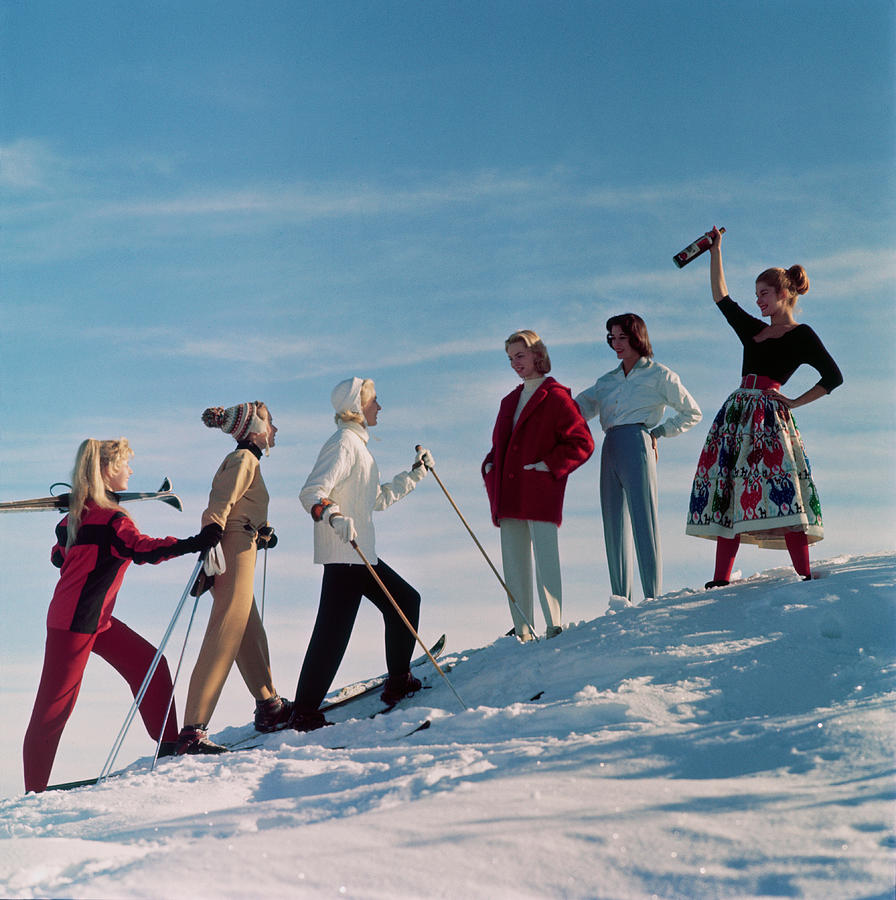 Skiing Party Photograph by Chaloner Woods