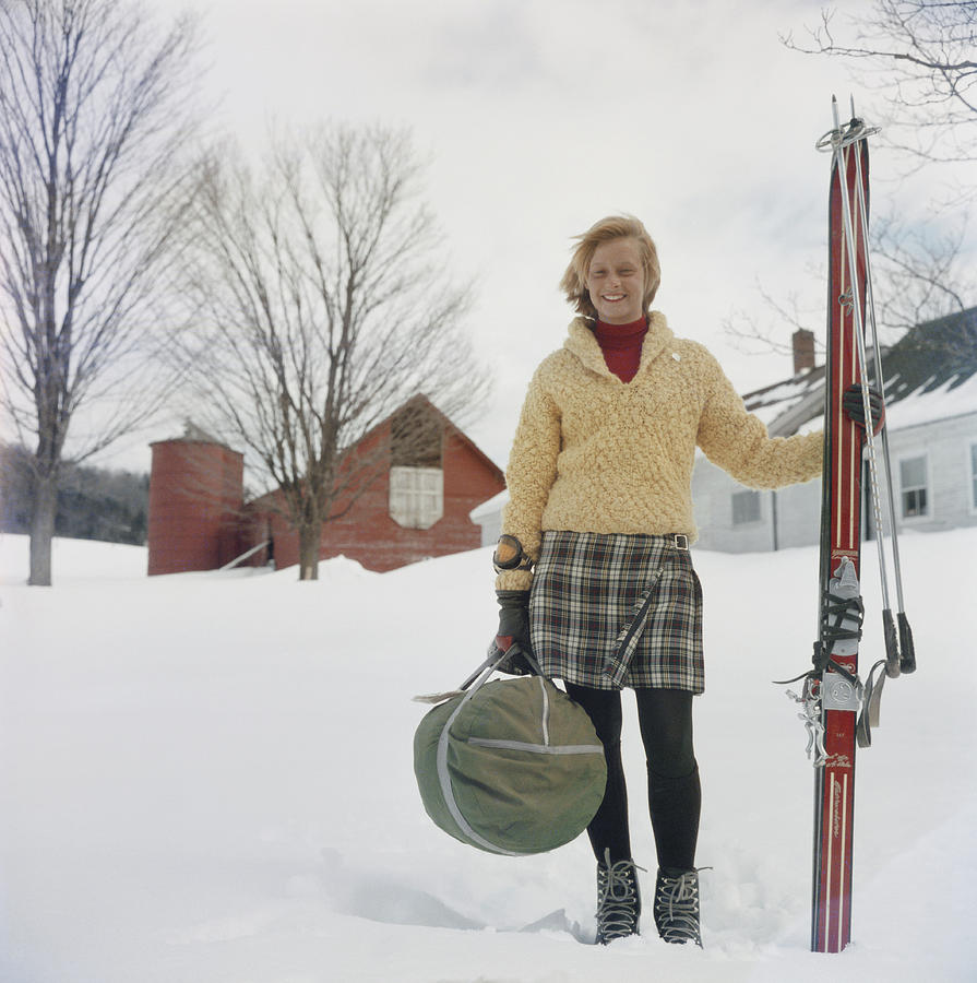 Skiing Waitress Photograph by Slim Aarons