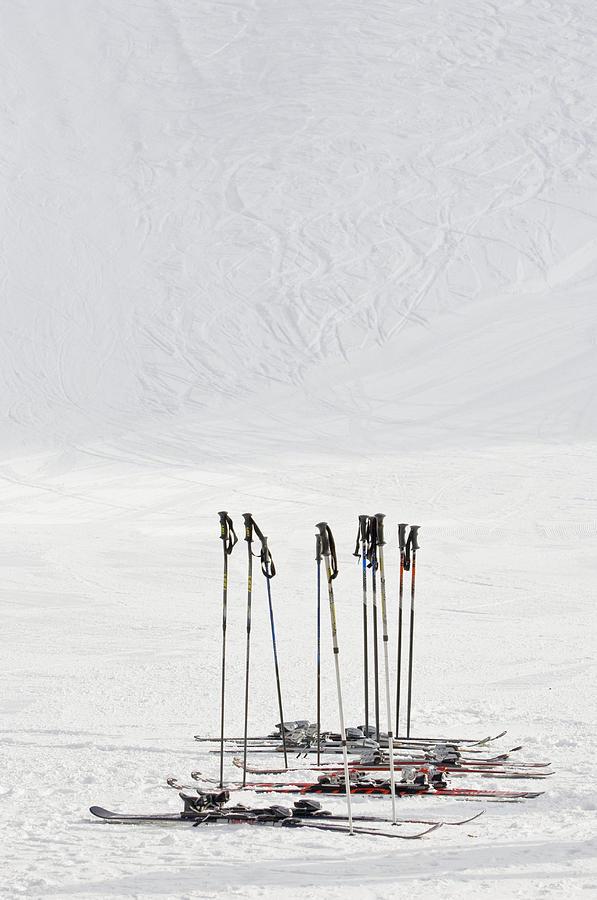 Skis And Ski Poles In Soelden, Tyrol Photograph by Felbert+eickenberg