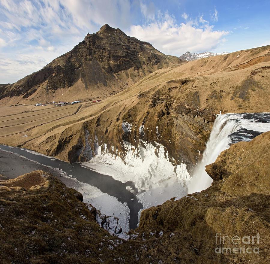 Iceland Photograph - Skogafoss from Above - Majestic Iceland Waterfall by Matt Tilghman