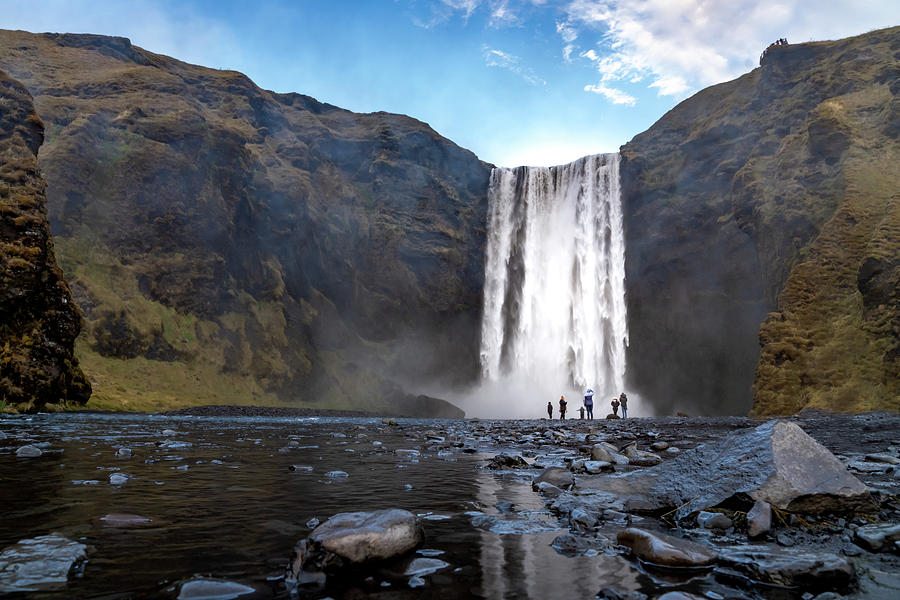 Iceland Photograph - Skogafoss Reflection by Framing Places