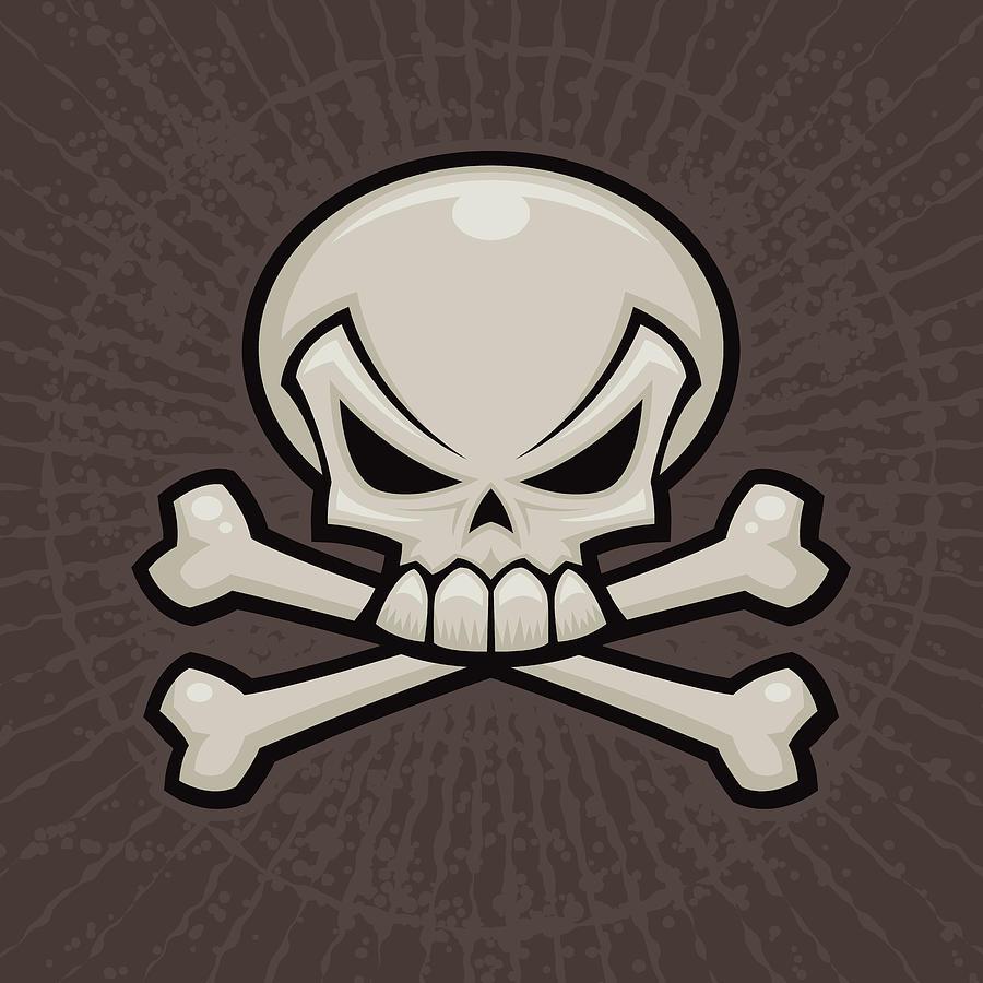Skull And Crossbones Digital Art