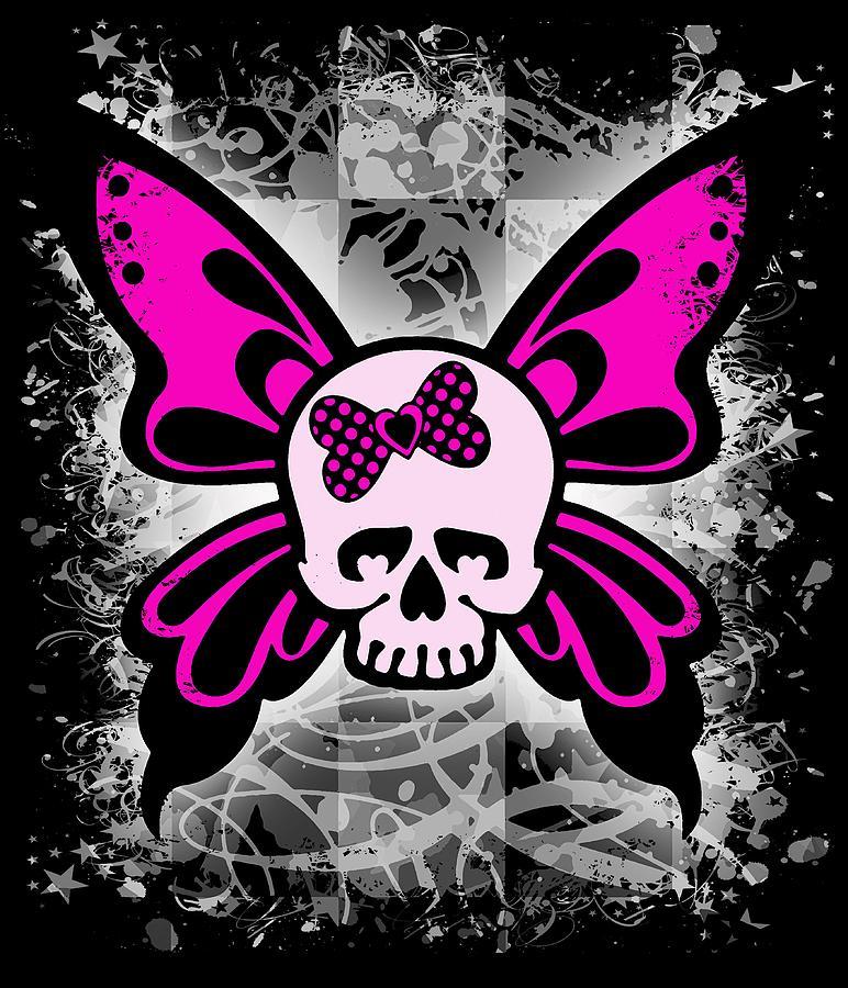 Skull Butterfly Graphic by Roseanne Jones