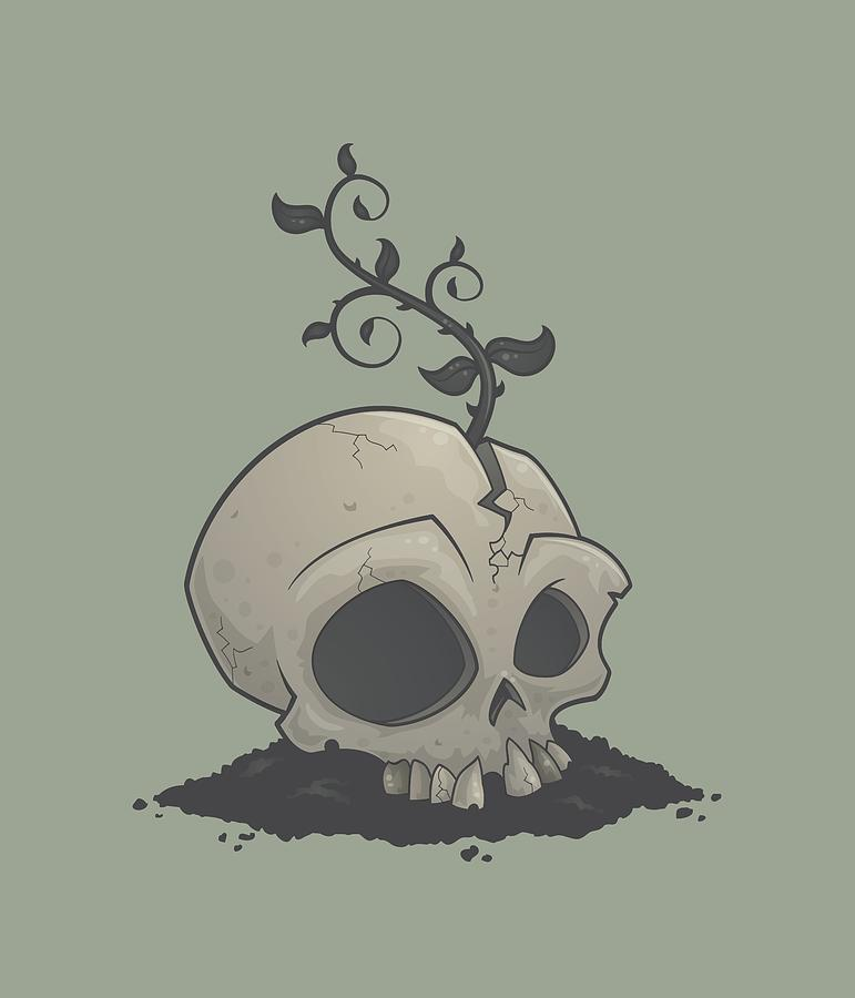 Sapling Digital Art - Skull Garden by John Schwegel