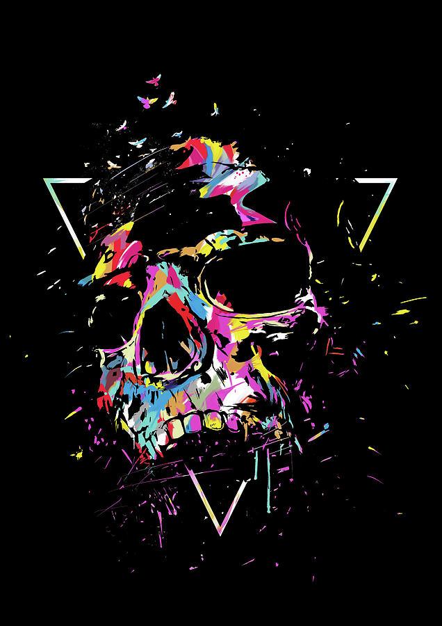 Skull Mixed Media - Skull X by Balazs Solti