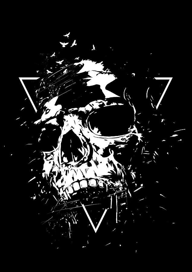 Skull Mixed Media - Skull X II by Balazs Solti