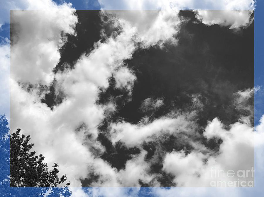 Clouds Digital Art - Sky Blue And Black  by Sharon Green
