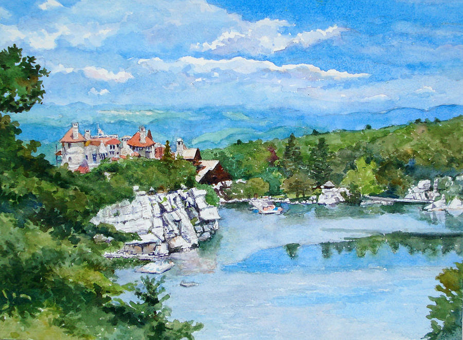 Mohonk Mountain House Painting - Sky Lake, Mohonk by Mira Fink