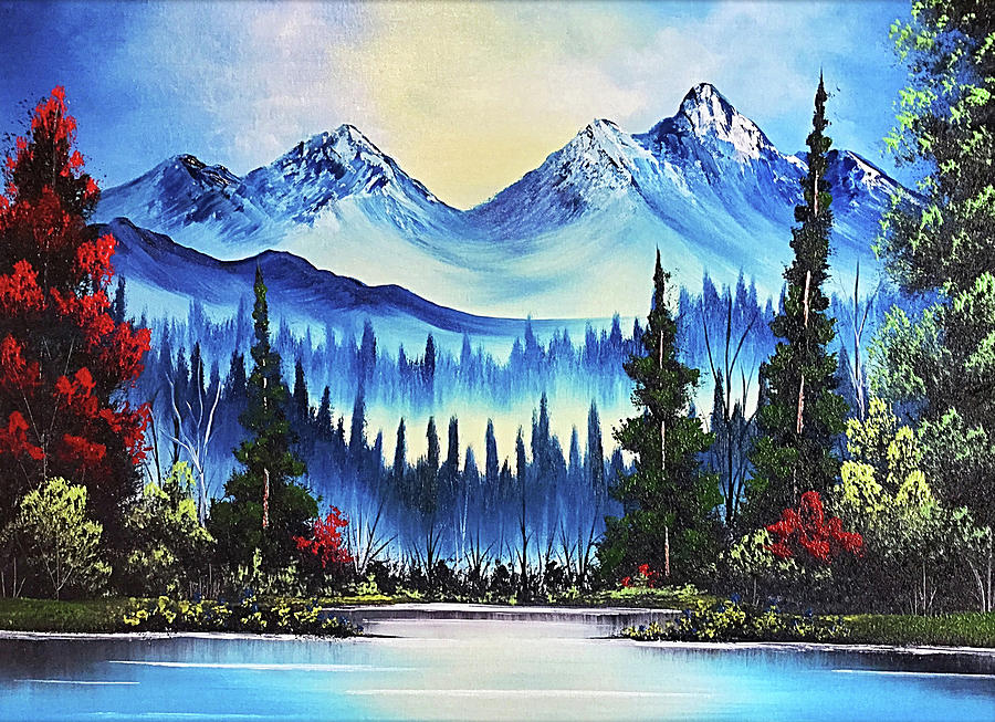 Mountain Landscape Painting - Sky Mountain by Teri Lindley