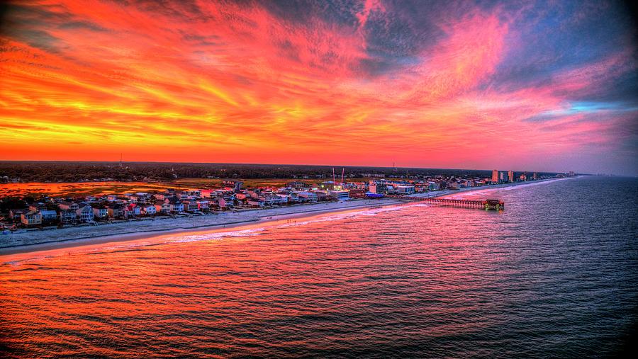 Sky on Fire Garden City Coastline by Robbie Bischoff