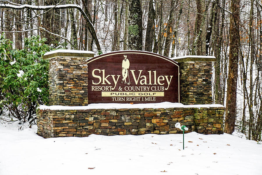 Welcome Photograph - Sky Valley Georgia Welcome Sign In The Snow by Seth Solesbee