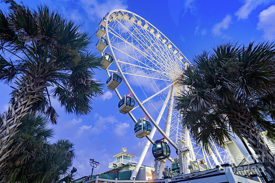 Sky Wheel at Blue Hour by David Smith