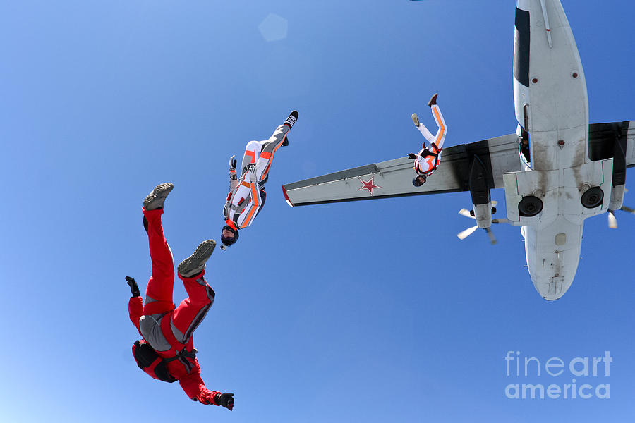 Skydiving Photograph - Skydiving Photo by Germanskydiver