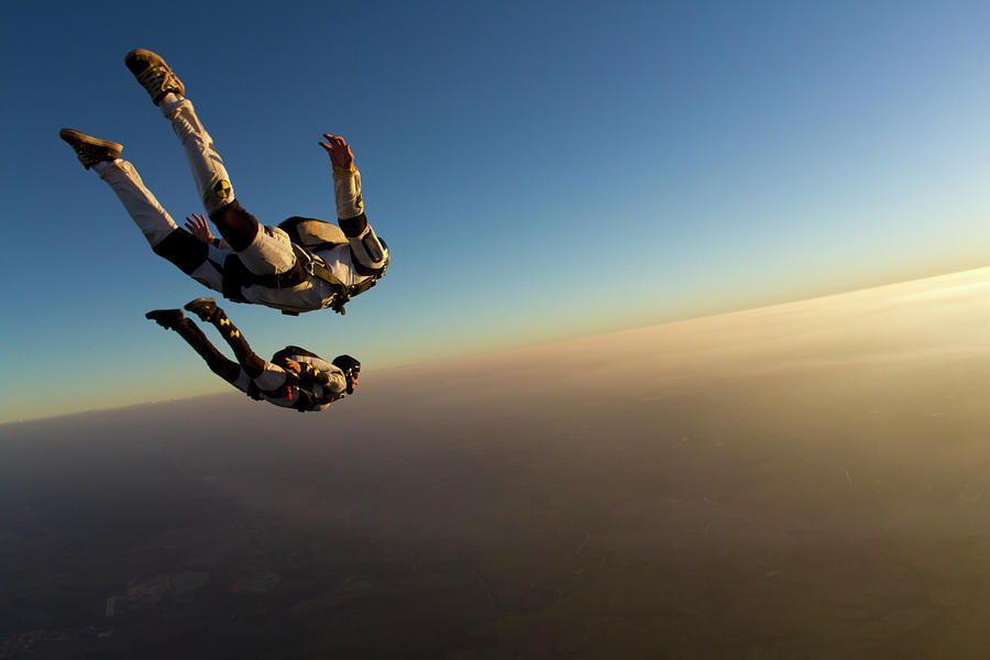 Skydiving Track Sunset Photograph by Rick Neves